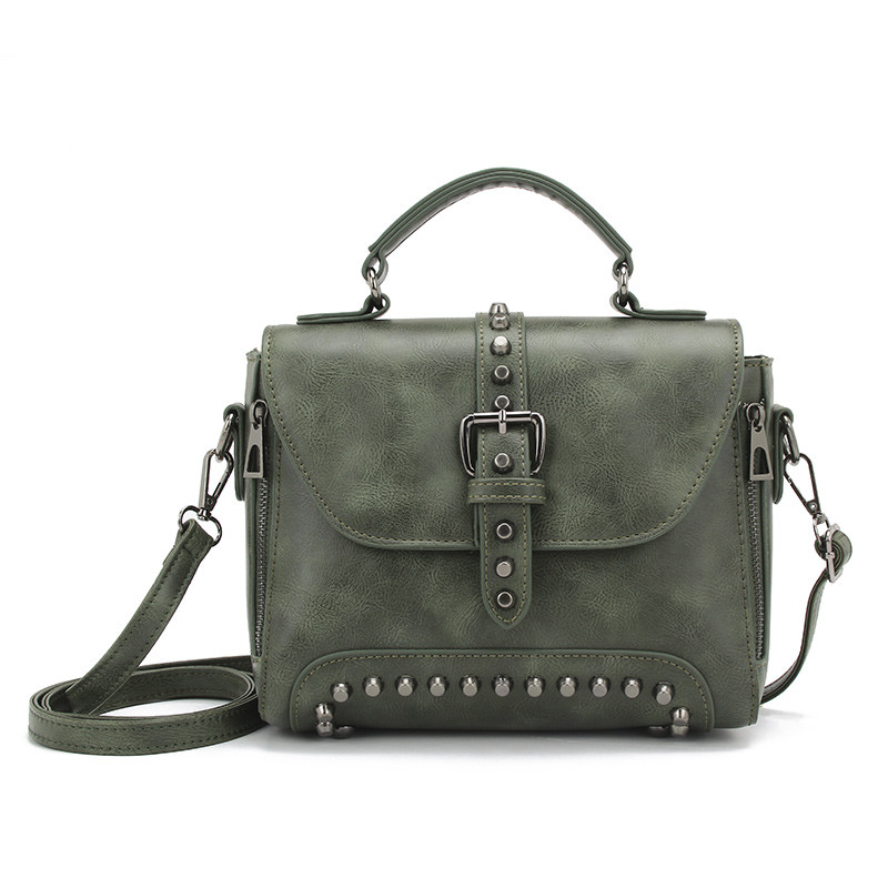 Стильная женская сумка классического стиля, зеленая KA-6