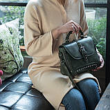 Стильная женская сумка классического стиля, зеленая KA-6, фото 6