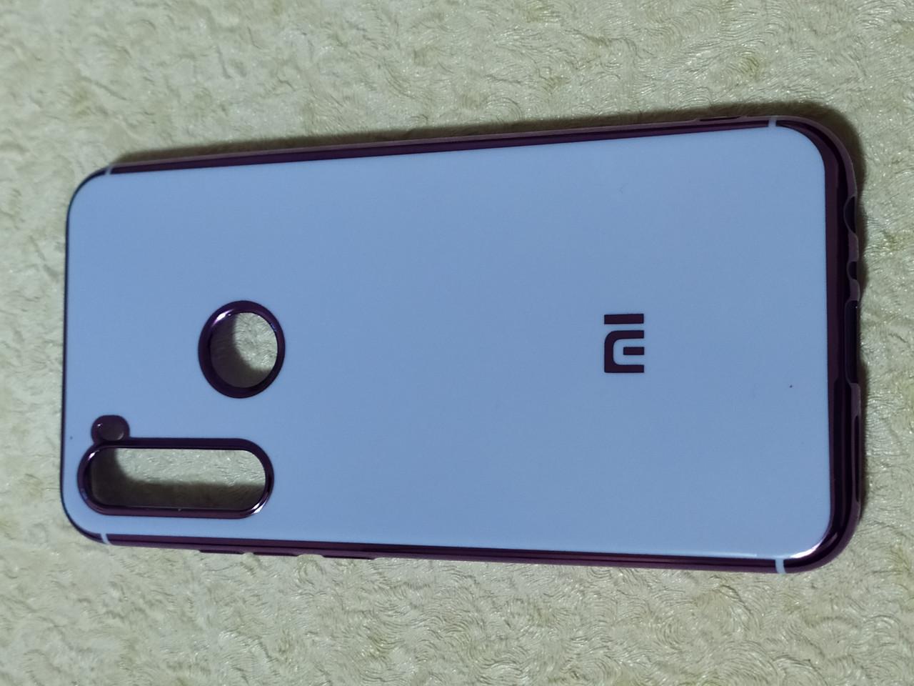Накладка  Plating Case Xiaomi Redmi Note 8  (сиреневый)
