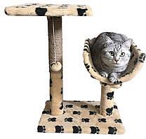 Драпак с полутунеллем на квадратной подставке  для котов 30х38х50см