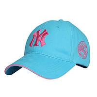 Красивая голубая бейсболка NY SGS - №3023
