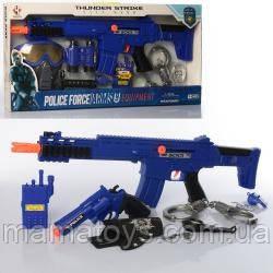 Набор с оружием P018AB Полиция, автомат трещотка, маска, 2 вида, в кор-ке, 62-28,5-5,5 см
