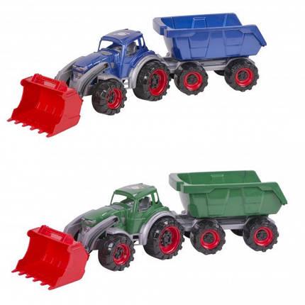 Трактор Texas навантажувач з причепом, фото 2