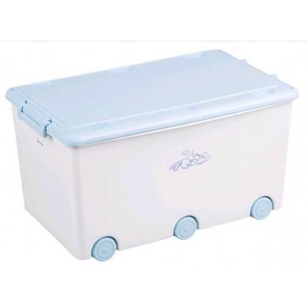 Ящик для іграшок Tega Baby Rabbits white 6коліс Розм. 58*40*33 см, фото 2
