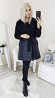 Женское Пальто на запах Батал, фото 1