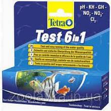 Tetra Test 6in1 експрес-тести для акваріума 25 смужок , код 175488
