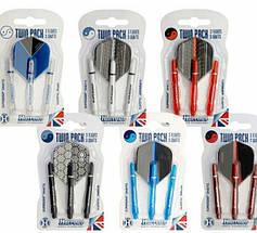 Дартс набор для дротиков (оперения+хвостовики Twin pack) Harrows Англия, фото 3