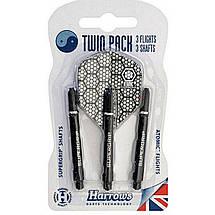 Дартс набор для дротиков (оперения+хвостовики Twin pack) Harrows Англия, фото 2