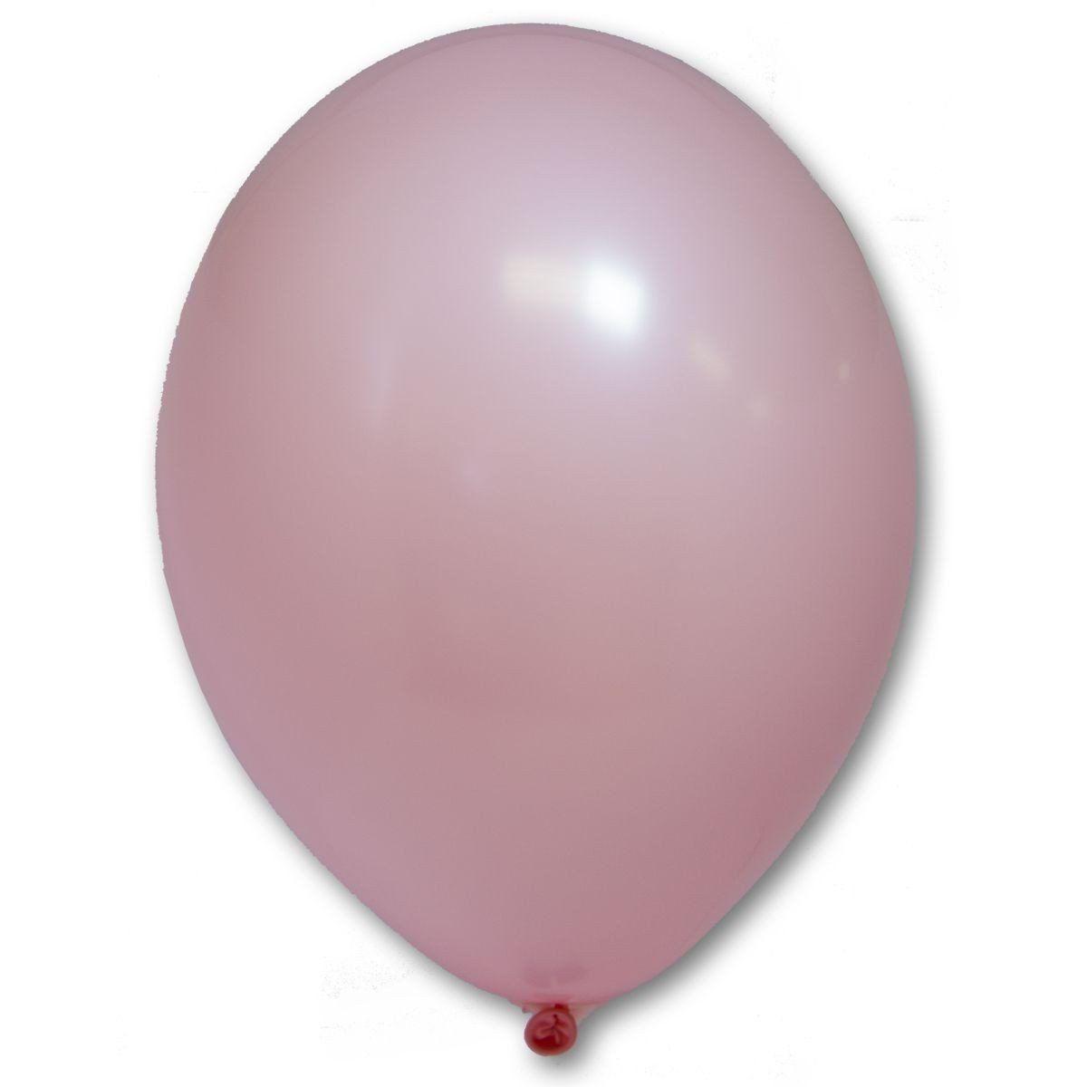 Латексные шары круглые без рисунка  В 105/004 пастель розовый (светлый)