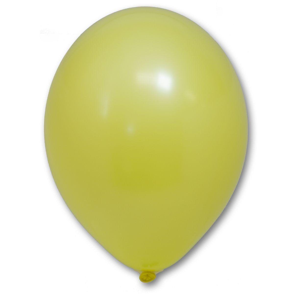 Латексные шары круглые без рисунка  В 105/006 пастель желтый