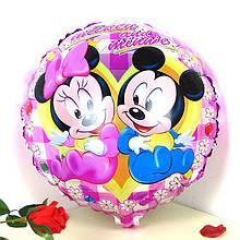 Воздушный фольгированный шар Микки и Минни Маус 45*45 см  1655