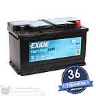 Аккумулятор автомобильный EXIDE AGM 6CT 80Ah, пусковой ток 800А [–|+] (EK800), фото 3