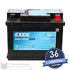 Аккумулятор автомобильный EXIDE AGM 6CT 60Ah, пусковой ток 680А [–|+] (EK600), фото 2