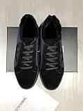 Зимние мужские кожаные Ботинки Armani синие Качество натуральная кожа Трендовые Армани реплика, фото 10