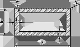 Труба прямоугольная алюминий  50х10х1 анод