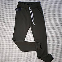 Женские спортивные штаны на флисе хаки S, М.