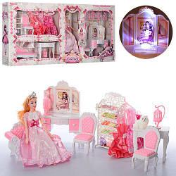 Игровой набор мебели для кукол гостиная 6955-A с музыкальными и световыми эффектами