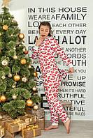 """Новогодняя женская пижама с вырезом на попе """"Губы"""""""