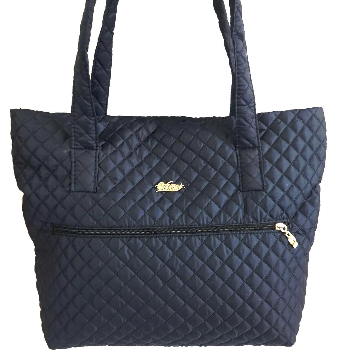 Стеганая зимняя женская сумка темно-синяя BR-S 1100654952