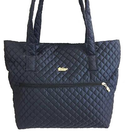 Стеганая зимняя женская сумка темно-синяя BR-S 1100654952, фото 2