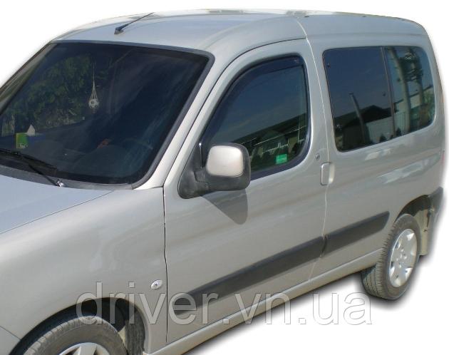 Дефлектори вікон вставні Citroen Berlingo/Peugeot Partner 1996-2008