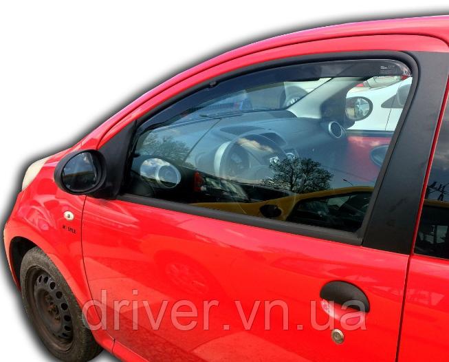 Дефлектори вікон вставні Citroen C1/Peugeot 107 3D 2005->  2шт