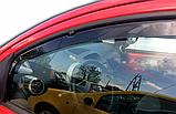 Дефлектори вікон вставні Citroen C1/Peugeot 107 3D 2005->  2шт, фото 3