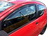 Дефлектори вікон вставні Citroen C1/Peugeot 107 3D 2005->  2шт, фото 5