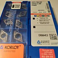 DCMT 11T304-HMP PC9030 KORLOY ORIGINAL Пластина твердосплавная ромбическая