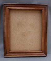 Киот для иконы из ольхи ровный, с деревянной рамкой.