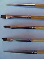 Набор для росписи ногтей с доцом 5 шт Kolinsky