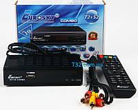 Комбо ресивер Eurosky ES-19 Combo DVB-Т2/S2/C комбинированный тюнер для приема Т2 и спутникового телевиденья