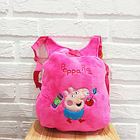 Детский розовый рюкзак-игрушка Свинка Пеппа, для ребенка, в садик