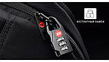 Рюкзак чоловічий Tigernu T-B3105 міський спортивний, з відділом для ноутбука + ЗАМОК (чорний з оранжевим), фото 4