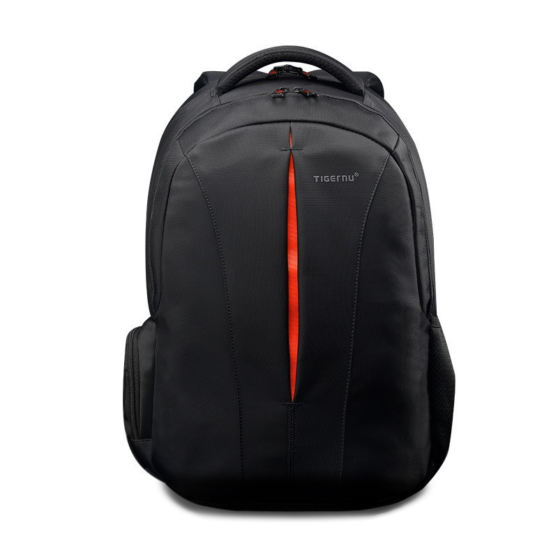Рюкзак чоловічий Tigernu T-B3105 міський спортивний, з відділом для ноутбука + ЗАМОК (чорний з оранжевим)