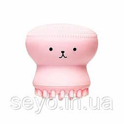 Силиконовая щетка для очистки и массажа лица Etude House My Beauty Tool Jellyfish Silicon brush