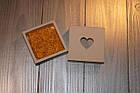 Коробка квадрана кришка - дно з серцем (біла), фото 5