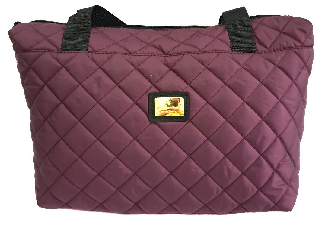 Стеганая зимняя женская сумка бордовая BR-S 1100661276