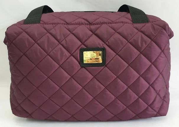 Стеганая зимняя женская сумка бордовая BR-S 1100661276, фото 2