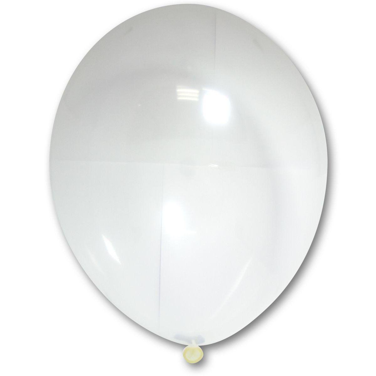 Латексные шары круглые без рисунка  В 105/038 кристалл прозрачный