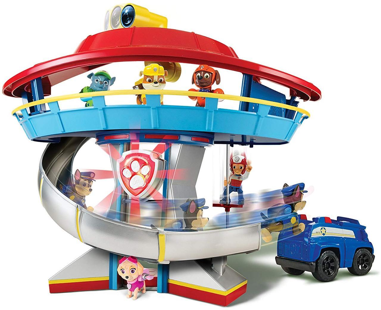 Щенячий патруль Paw Patrol Спасательная станция база спасателей и Гонщик Чейз с машиной Spin Master