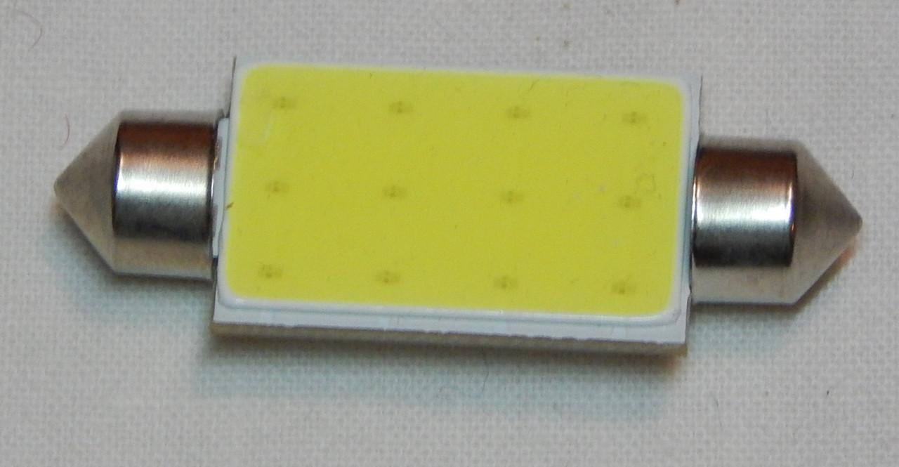 Лампа автомобільна світлодіодна ZIRY C5W 41mm біла