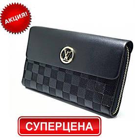 Женский кошелек в стиле Louis Vuitton. Клатч Луи Витон портмоне LV (реплика) В различных цветах