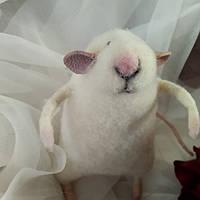 Крыс - авторская игрушка из шерсти (сухое валяние), подарок для друзей, близких, родных