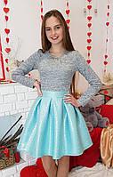 Яркое стильное платье Миранда мята(р.38) рост 140