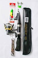 Рыболовный Набор Спиннинг Kalipso +катушка +блесна+Подарок!
