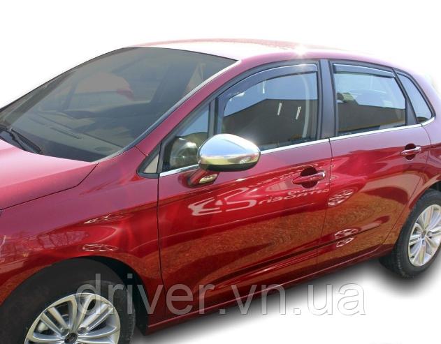 Дефлектори вікон вставні Citroen C4 5D 2010-> 4шт