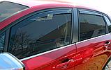 Дефлектори вікон вставні Citroen C4 5D 2010-> 4шт, фото 6