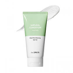 Очищуюча пінка-скраб The Saem Natural Condition Deep Cleansing Scrub Pore Cleansing