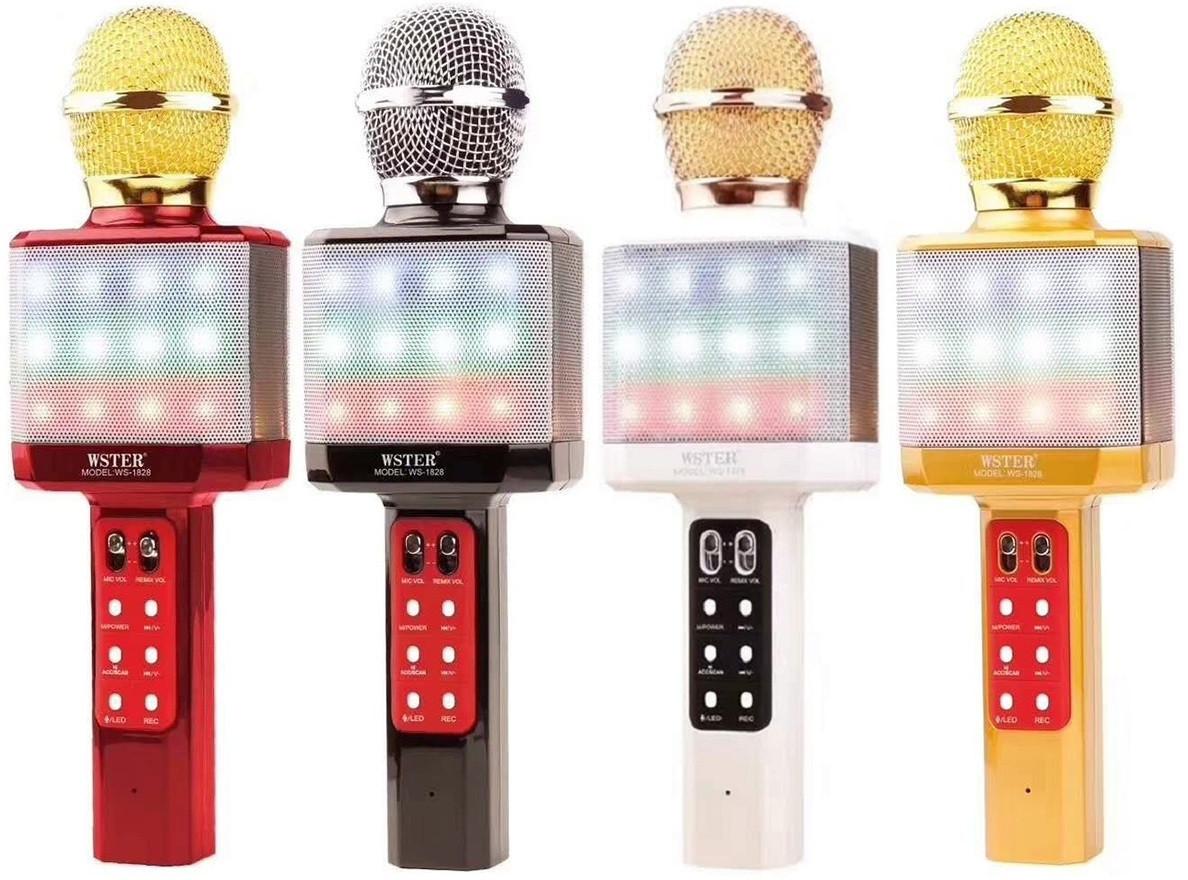 WSTER WS-1828 Оригинальный беспроводной караоке микрофон со светомузыкой